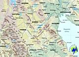 Ελλάδα, πολιτικός και γεωφυσικός χάρτης
