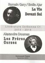 Litterature Sorbonne C1  2015 -2016