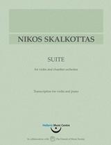 Νίκος Σκαλκώτας, Σουίτα για βιολί και μικρή ορχήστρα: Μεταγραφή για βιολί και πιάνο
