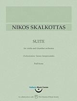 Νίκος Σκαλκώτας, Σουίτα για βιολί και μικρή ορχήστρα: Παρτιτούρα ορχήστρας