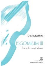 Egomium III for solo Contrabass
