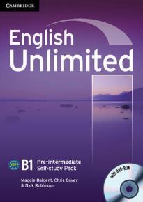 ENGLISH UNLIMITED B1 PRE-INTERMEDIATE WORKBOOK (+ DVD-ROM) SELF STUDY PACK