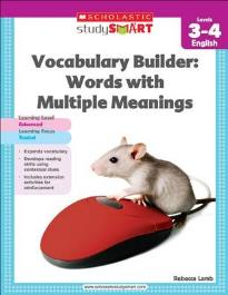 STUDY SMART : VOCABULARY BUILDER: WORDS WITH MULTIPLE MEANINGS (LEVEL 3-4) PB