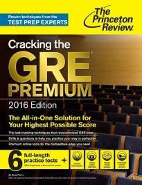 CRACKING THE GRE PREMIUM EDITION 2016