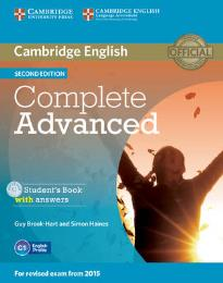 COMPLETE ADVANCED STUDENT'S BOOK W/A (+ CD-ROM) 2ND ED