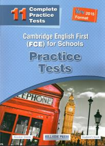 CAMBRIDGE ENGLISH FIRST FOR SCHOOLS (11 TESTS) PRACTICE TESTS STUDENT'S BOOK (NEW 2015 FORMAT)
