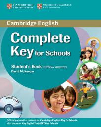 COMPLETE KEY FOR SCHOOLS STUDENT'S BOOK (+ CD-ROM)