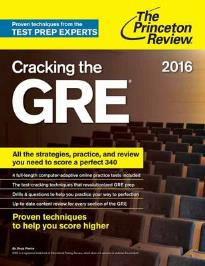 CRACKING THE GRE 2016 EDITION