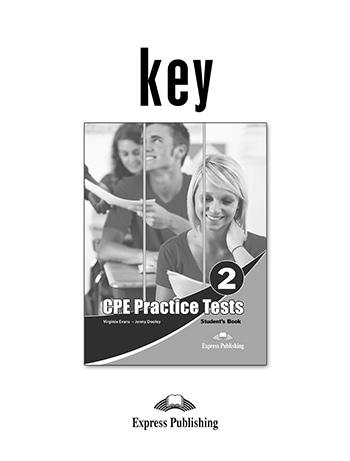 CPE PRACTICE TESTS 2 KEY 2013 REVISED
