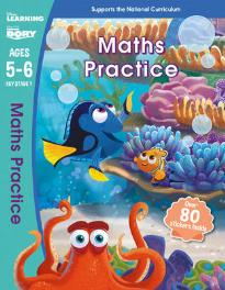 DISNEY LEARNING : FINDING DORY : MATHS PRACTICE AGES 5-6 PB