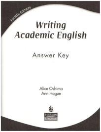WRITING ACADEMIC ENGLISH ANSWER KEY 4TH ED