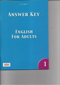 ENGLISH FOR ADULTS 1 KEY