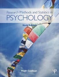 RESEARCH METHODS AND STATISTICS IN PSYCHOLOGY 6TH ED PB