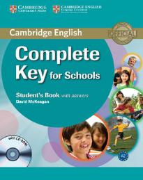 COMPLETE KEY FOR SCHOOLS STUDENT'S BOOK W/A (+ CD-ROM)