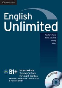 ENGLISH UNLIMITED B1+ INTERMEDIATE TEACHER'S BOOK  PACK (+ DVD-ROM)