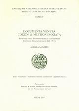 Documenta Veneta Coroni & Methoni rogata