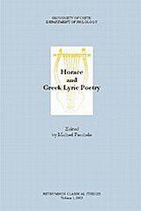 Horace and Greek Lyric Poetry