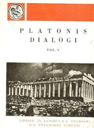 Platonis dialogi, vol. V (Πλάτωνος διάλογοι, τόμος Ε')