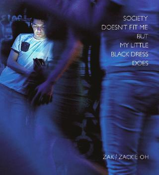 Ζακ: Society doesn't Fit Me But My Little Black Dress Does