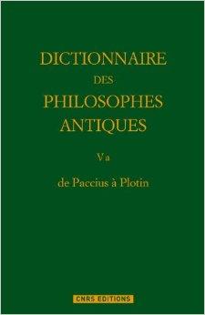 DE PACCIUS A PLOTIN. DICTIONNAIRE
