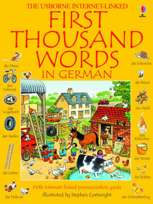 USBORNE : FIRST THOUSAND WORDS IN GERMAN Paperback