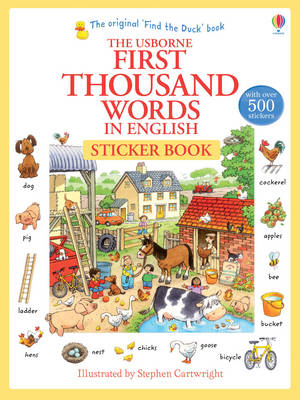 USBORNE : FIRST THOUSAND WORDS IN ENGLISH (WITH 500 STICKERS) Paperback