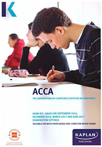 ACCA F8 AUDIT & ASSURANCE - EXAM KIT  Paperback