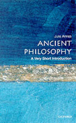 VERY SHORT INTRODUCTIONS : ANCIENT PHILOSOPHY Paperback A FORMAT