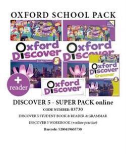 OXFORD DISCOVER 5 SUPER PACK ONLINE (Student's Book + Workbook WITH ONLINE PRACTISE + GRAMMAR + READER) - 03730