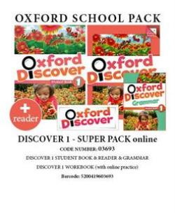 OXFORD DISCOVER 1 SUPER PACK ONLINE (Student's Book+ Workbook WITH ONLINE PRACTISE + GRAMMAR + READER) - 03693