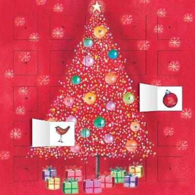 BAUBLE TREE ADVENT CALENDAR (WITH STICKERS)  HC