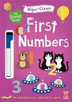 FIRST NUMBERS: WIPE-CLEAN BOOK WITH PEN (I'M STARTING SCHOOL)  Paperback