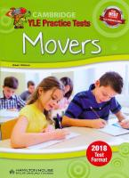 CAMBRIDGE YOUNG LEARNERS ENGLISH TESTS MOVERS STUDENT'S BOOK 2018