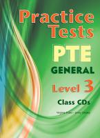 PTE GENERAL 3 B2 PRACTICE TESTS CD CLASS