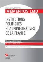 INSTITUTIONS POLITIQUES ET ADMINISTRATIVES DE LA FRANCE 8TH ED
