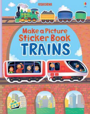 USBORNE : MAKE A PICTURE STICKER BOOK TRAINS Paperback