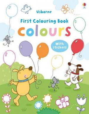 USBORNE : FIRST COLOURING BOOK COLOURS (+ STICKERS) Paperback