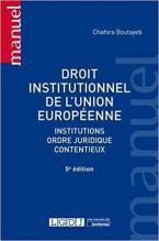 DROIT INSTITUTIONNEL DE L UNION EUROPEENNE - 5E EDITION POCHE
