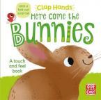 HERE COME THE BUNNIES : A TOUCH AND FEEL BOARD BOOK WITH A FOLD-OUT SURPISE HC BBK
