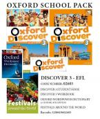 OXFORD DISCOVER 3 PACK EFL (SB + WORKBOOK + READER: FESTIVALS AROUND THE WORLD+ OXF. WORDPOWER DICTIONARY+CD-ROM) - 02603