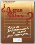 A QUE NO SABES ALUMNO (+ CLAVES) CURSO DE PERFECCIONAMIENTO