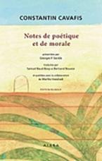 Notes de poetique et de morale