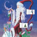 SANTA NAD THE MOON ADVENT CALENDAR ( WITH STICKERS)  HC