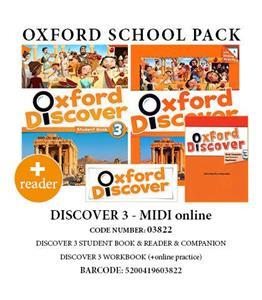 OXFORD DISCOVER 3 PACK MIDI ONLINE(Student's Book+ Workbook(+ONLINE PRACTICE)+ COMPANION+ READER) - 03822