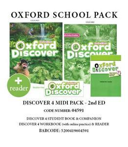 OXFORD DISCOVER 4 PACK MIDI (Student's Book+ Workbook (WITH ONLINE)+ COMPANION+ READER) - 04591 2ND ED