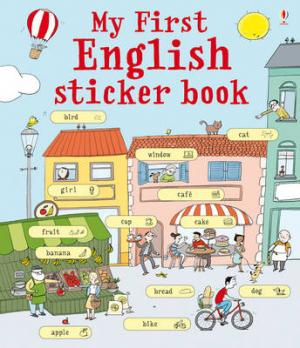 USBORNE : MY FIRST ENGLISH STICKER BOOK Paperback