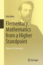 ELEMENTARY MATHEMATICS FROM A HIGHER STANDPOINT : GEOMETRY VOL.2 Paperback