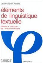 ELEMENTS DE LINGUISTIGUE TEXTUELLE