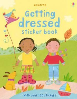 USBORNE : GETTING DRESSED STICKER BOOK (+ STICKERS) Paperback