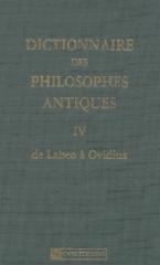 DICTIONNAIRE DES PHILOSOPHES ANTIQUES -T 4-LABEO